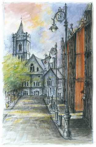 Christchurch Dublin Drawing