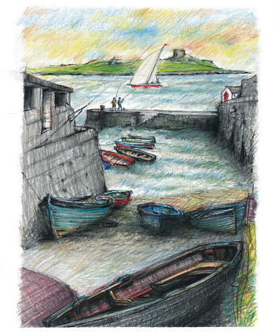 Dalkey Harbour Drawing
