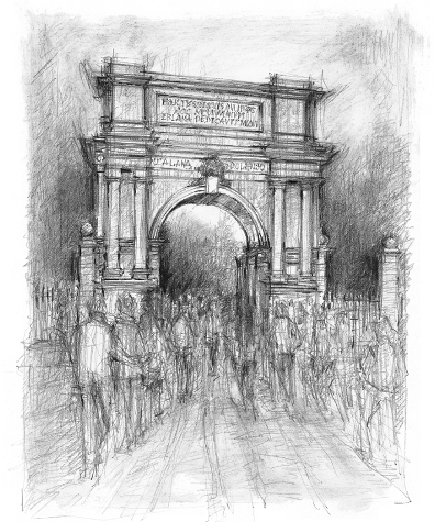 Dublin Fusilier's Arch Drawing