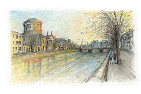 Four Courts Dublin Painting