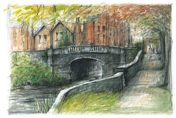 Hubband Bridge Dublin Drawing