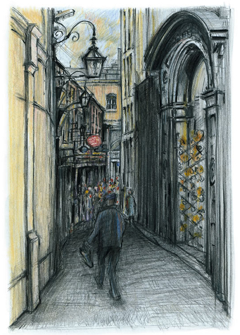 Johnsons Court Grafton Street Dublin Drawing