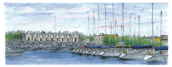 Royal Irish Yacht Club Painting