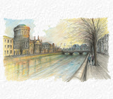 The Four Courts & River Liffey