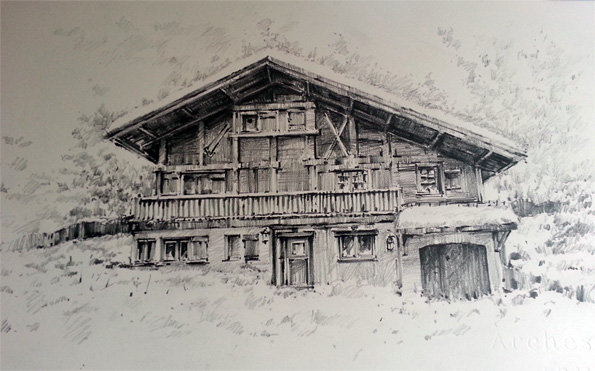 Les Houches France Drawing