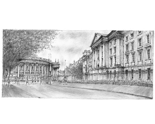 Trinity College and Bank of Ireland
