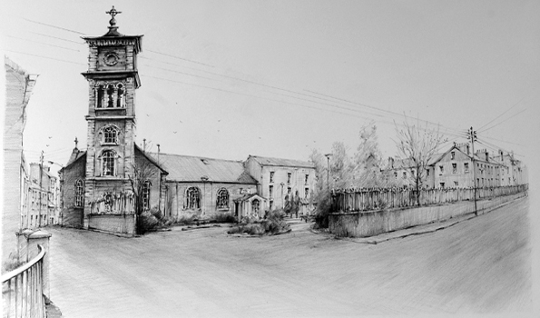 Pencil Drawings: The Friary School Street Wexford