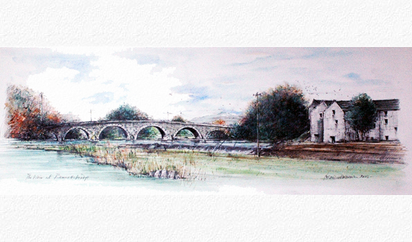 Watercolour: Bennettsbridge Co. Kilkenny