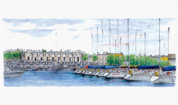 Watercolour: Royal Irish Yacht Club