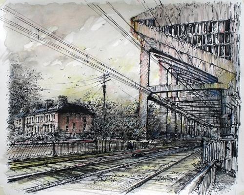 Across the Railway Lines