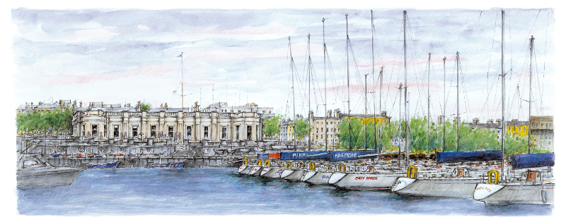 royal-irish-yacht-club-painting